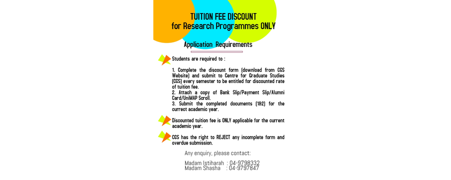Discount Tuition Fee