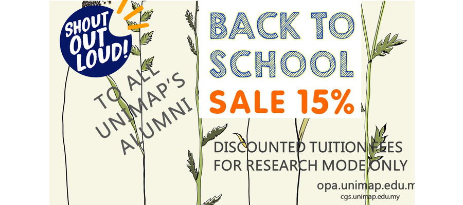 Poster 15% Off Tuition Fees